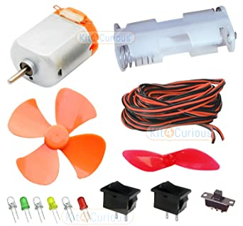 Groovy Kit4Curious Diy Science Project Material Kit Motor Led Switch Wiring Cloud Brecesaoduqqnet