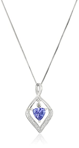 Amazon 14k white gold tanzanite and diamond pendant 14k white gold tanzanite and diamond pendant necklace 18quot mozeypictures Choice Image