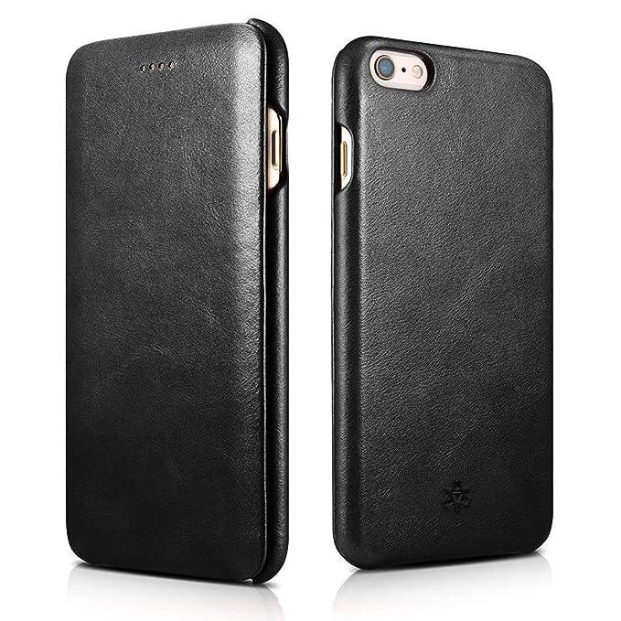 1 opinioni per NOVADA Custodia in Vera Pelle per iPhone 6 Plus & 6S Plus- Ultra Sottile Folio