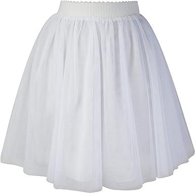 Falda Mini Corta de Tul para Mujer Elegante Fiesta Boda Princesa ...