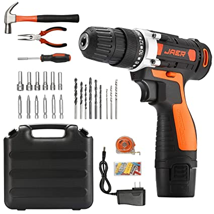 Amazon.com: Jaer Taladro eléctrico inalámbrico y kit de ...