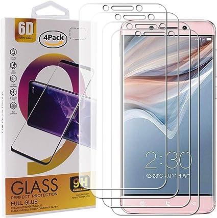 Guran 4 Paquete Cristal Templado Protector de Pantalla para Leeco Le Pro 3 / Le Pro 3 Elite Smartphone 9H Dureza Anti-Ara?azos Alta Definicion Transparente Película: Amazon.es: Electrónica