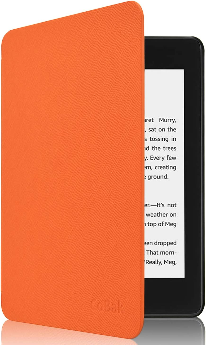 All New PU Leather Smart Cover with Auto Sleep Wake Feature for Kindle Paperwhite 10th Generation 2018 Released Orange CoBak Kindle Paperwhite Case
