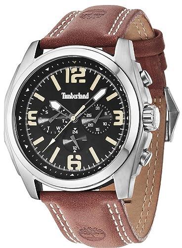Timberland Brattleboro Reloj para Hombre Analógico de Cuarzo con Brazalete de Piel de Vaca 14366JS-02A: Amazon.es: Relojes