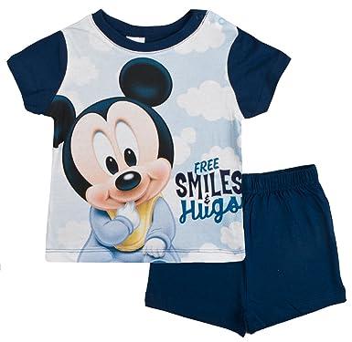 9f115a20e Disney Mickey Mouse Baby Boys Short Pyjamas Free Smiles Navy 24 Months:  Amazon.co.uk: Clothing