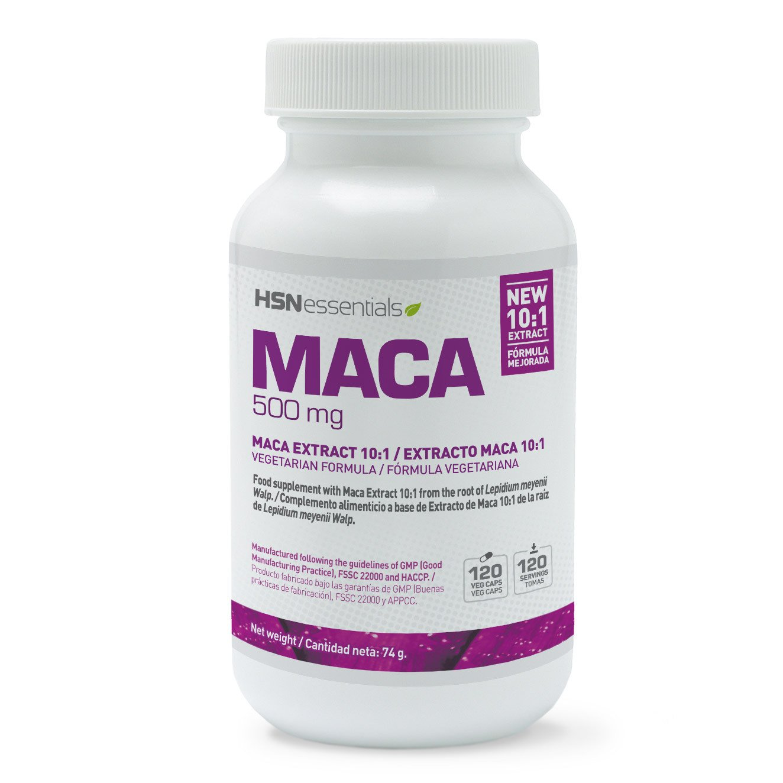 Maca Andina de HSN Essentials Dosis Diaria 500mg Ratio 10:1 - Eleva tus niveles de Testosterona, Potente Afrodisíaco, Revitalizante Apoyo a la Fertilidad ...