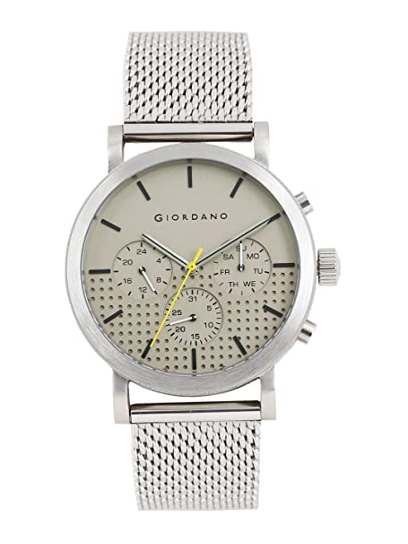 Giordano Analog Grey Dial Men's Watch-1826-11 Men's Watches at amazon