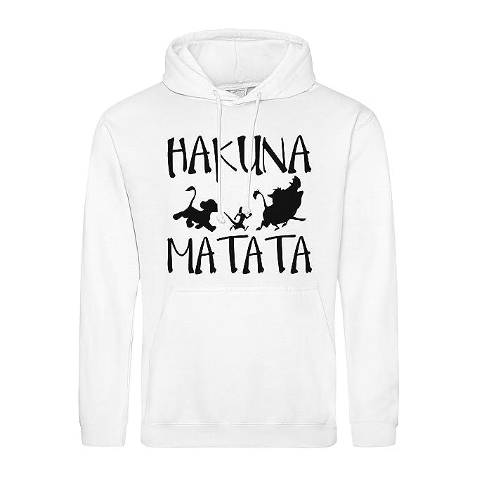 Hakuna Matata No Problems Disney King Lion Sudadera con Capucha Unisex: Amazon.es: Ropa y accesorios