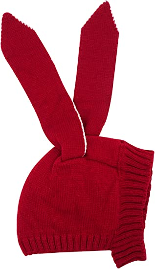 Kids Baby Toddler Boys Girls Knitted Crochet Rabbit Face Beanie Winter Hat Cap