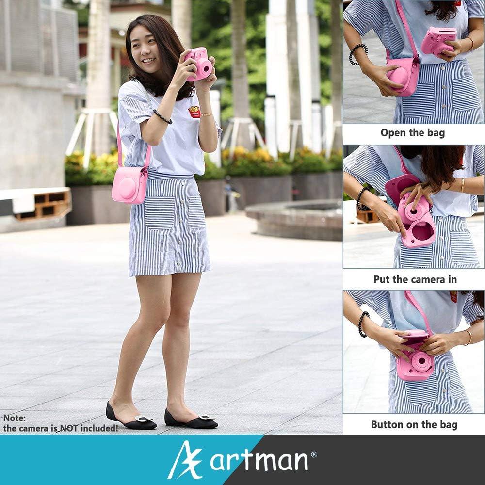 Ice Blue Include Camera Case//Album//Selfie Lens//Filters//Table Frames//Wall Hanging Frame//Stickers//Film Calendar Artman 14-in-1 Instax Mini Accessories Bundle Kit for Fujifilm Instax Mini 9//8//8