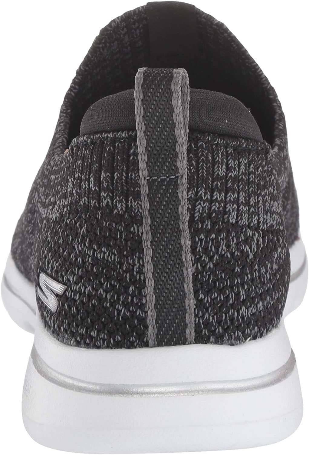 Skechers Go Walk 5 Trendy Sneakers voor dames Black Black Textile Gray Trim Bkgy