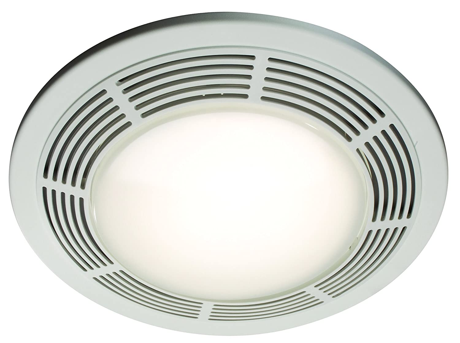Nutone 8664rp designer fan and light with round white grille and nutone 8664rp designer fan and light with round white grille and glass lens 100 cfm 35 sones built in household ventilation fans amazon mozeypictures