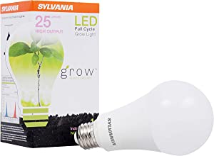 SYLVANIA General Lighting 40023 A21 Ultra, Frosted Finish, 17 Watts LED Grow Lamp
