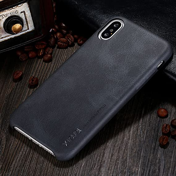 new arrival 6df75 74321 iPhone X case, X-Level [Vintage Series] Premium PU Leather Slim Fit Ultra  Light Soft Touch Protective Mobile Cell Phone Case Back Cover for Apple ...