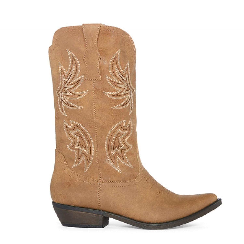 Amazon.com   Arizona Jean Company Dewey Cowboy Tan Womens Boots 6.5 M    Mid-Calf