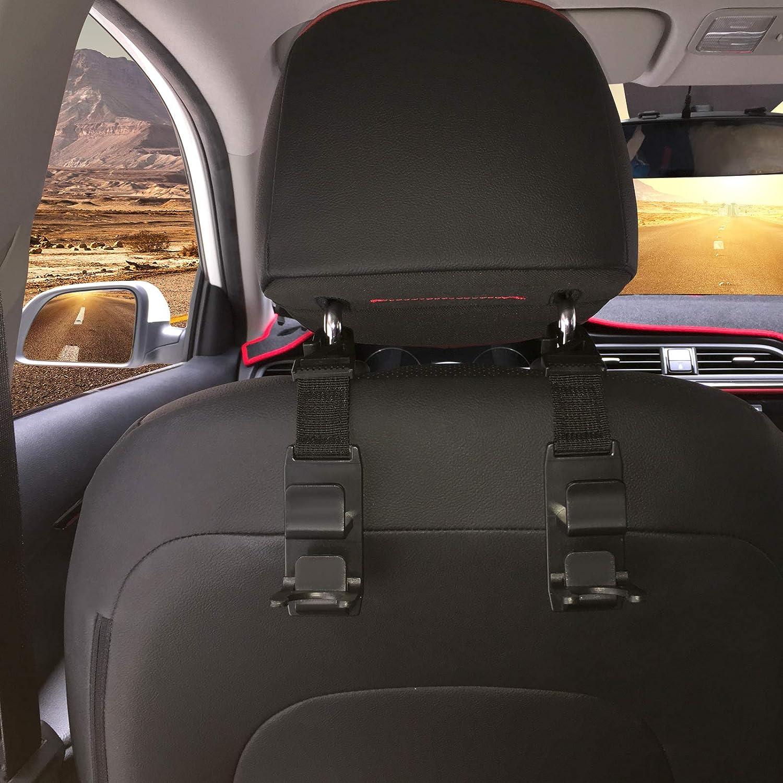 4x Kopfstütze Haken Auto Rücksitz Haken Universal Für Taschen Einkaufstüte Schwarz Verpackung Mehrweg Auto