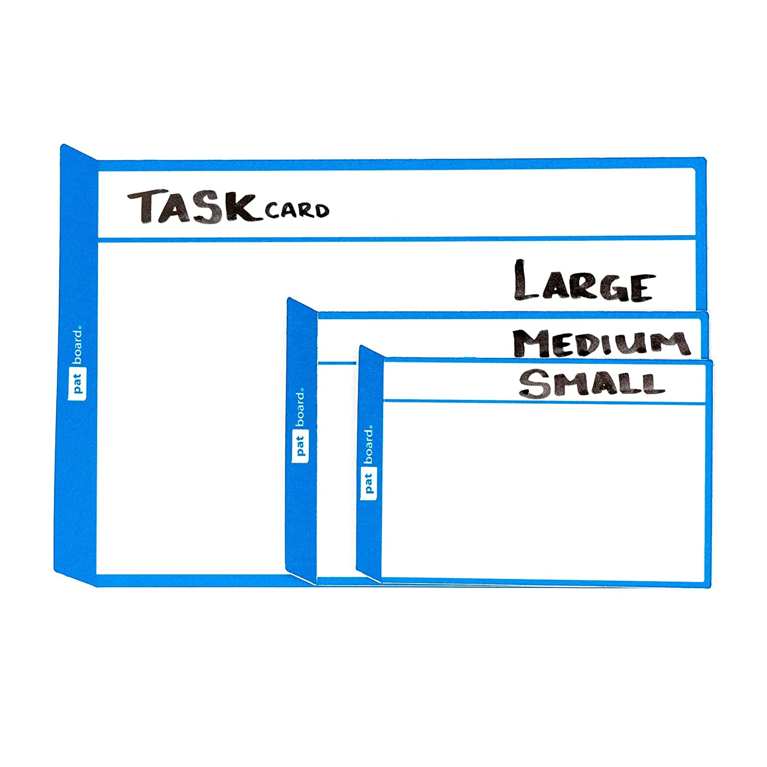 grand Bleu 8 TASKcards L Magnetic Notes Scrum Kanban Aimants from PATboard