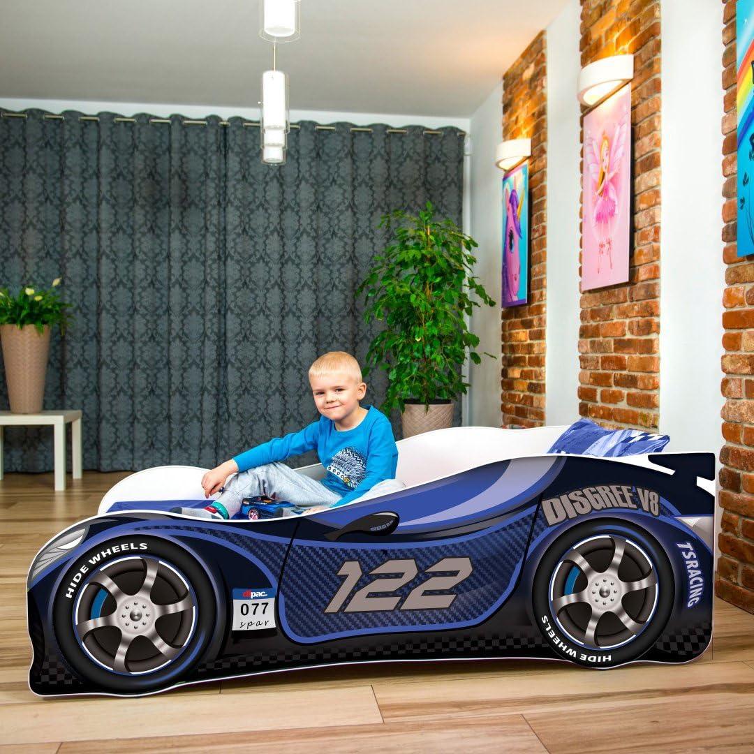 140 x 70 cm 3 /à 5 ans, BLUE Neuf Bebe Voiture Lits Pour Enfants matelas 160 X 80 CM 160X80 CM 180 X 80 CM
