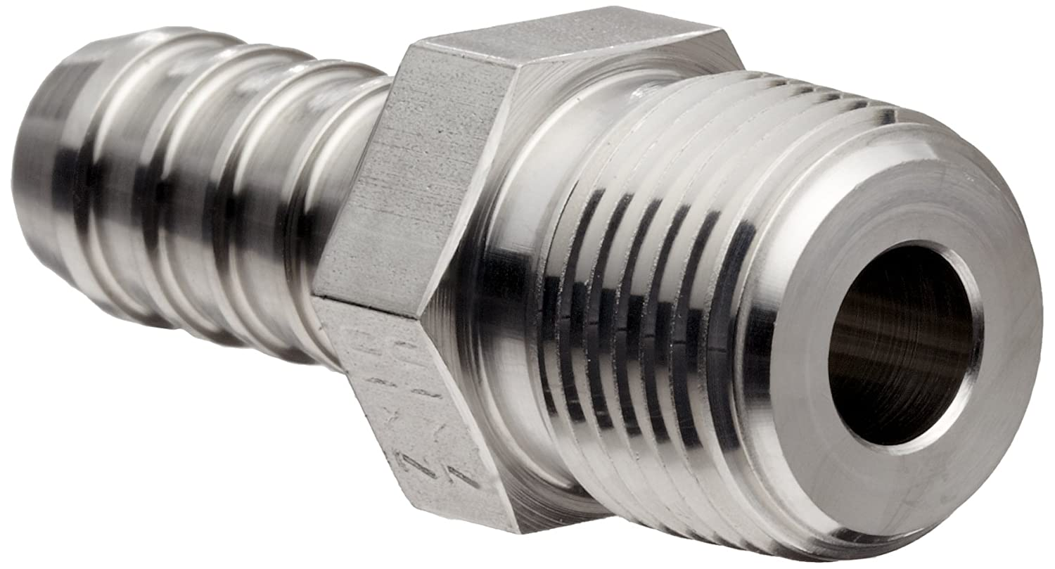 Parker 6-6 B2HF-SS 316 Stainless Steel Barb Connector To Male Pipe 3 ...