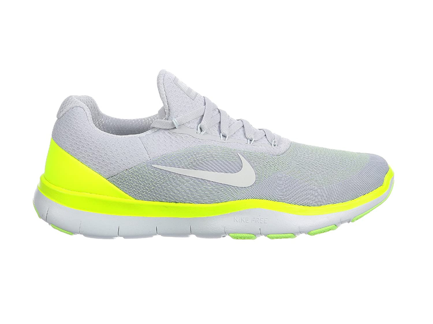 573aabaaccc0c Amazon.com | Nike Free Trainer v7 Pure Platinum/Volt/Ghost Green/Off-White  Men's Cross Training Shoes Size 9 | Running
