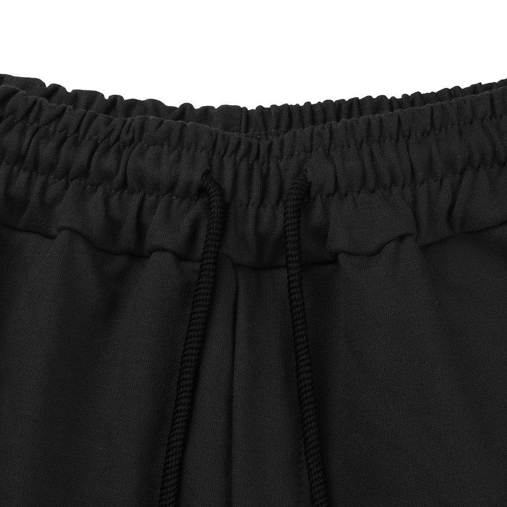 Xlala Short Pants for Men Training Fashion Casual Fold Stripe Beach Short Trouser Big Tall Comfort Summer Premium Trousers with Pocket Sweatpants