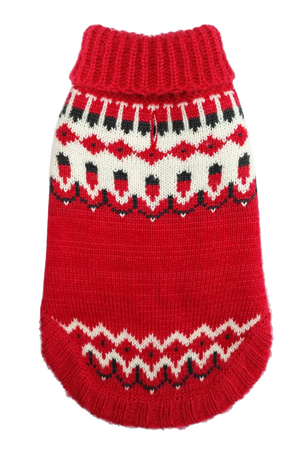 Red X-Large Red X-Large Hip Doggie Icelandic Dog Sweater (XL) (Red)