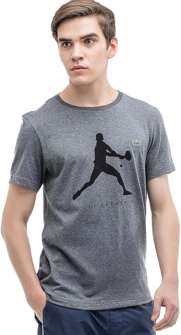 Lacoste Live Camiseta Hombre Nova Djokovic Gris: Amazon.es: Ropa y ...