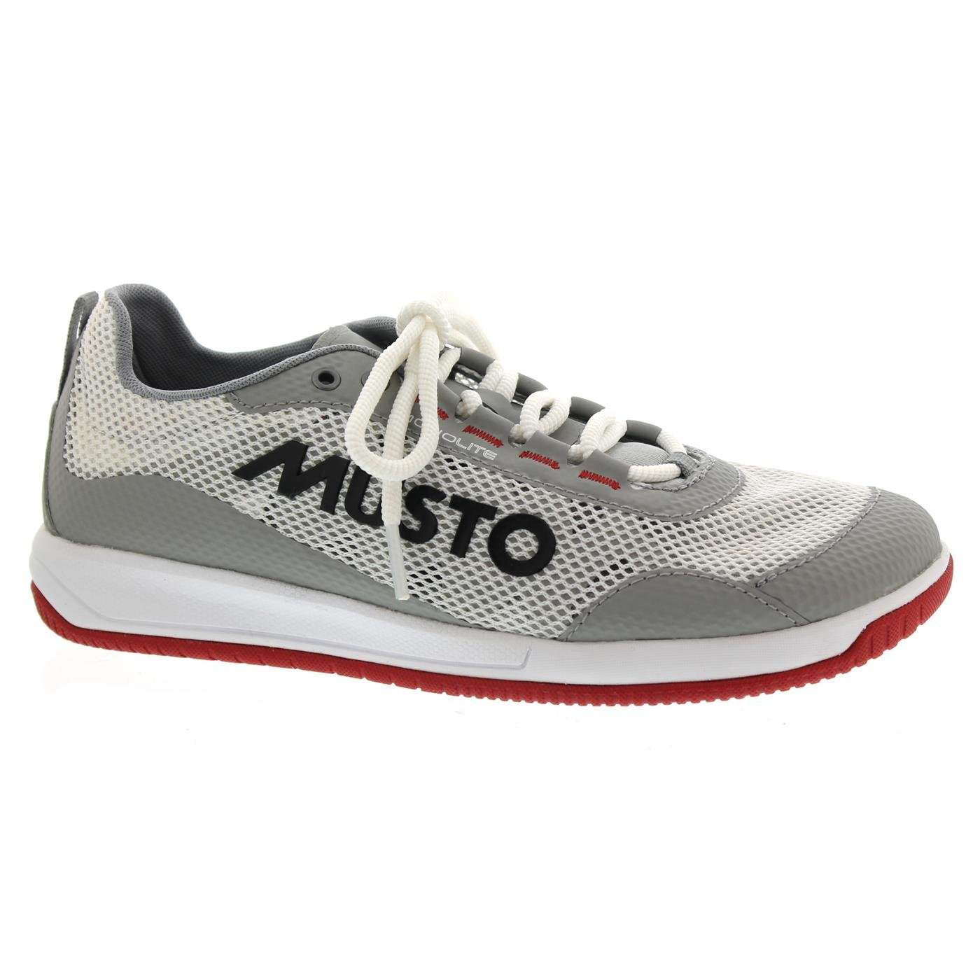 Musto Dynamic Pro Lite Non-Marking, Deck-Gripping, and Lightweight Performance Sailng Shoe Platinum 10.5