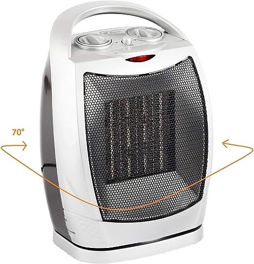 RENXR Mini Ventilador Eléctrico/Calefactor Eléctrico Bajo Consumo ...