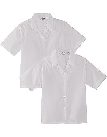 bb91067f Trutex Limited Girl's Short Sleeve Non-Iron Plain Blouse