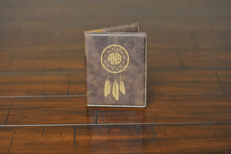 f38446a75 Amazon.com  Personalized Engraved Leatherette Passport Wallet - Dreamcatcher  Monogram  Handmade