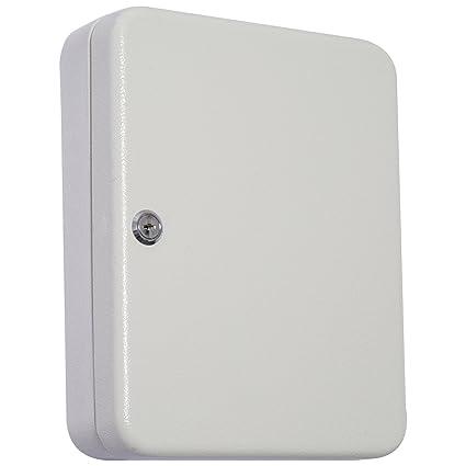 Homcom Armario para Llaves 45 Ganchos Caja de Llaves de Pared Caja de Seguridad con Cerradura Etiquetas 30x24x7.5cm Acero