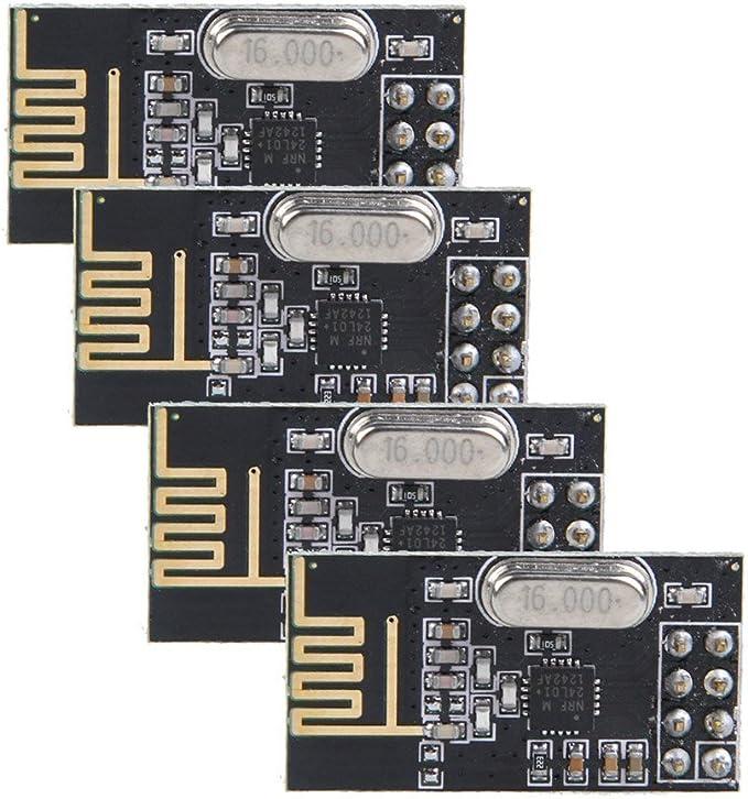 TOOGOO 4pzs NRF24L01+ 2.4GHz Modulo de transceptor inalambrica de antena para Arduino Nuevo