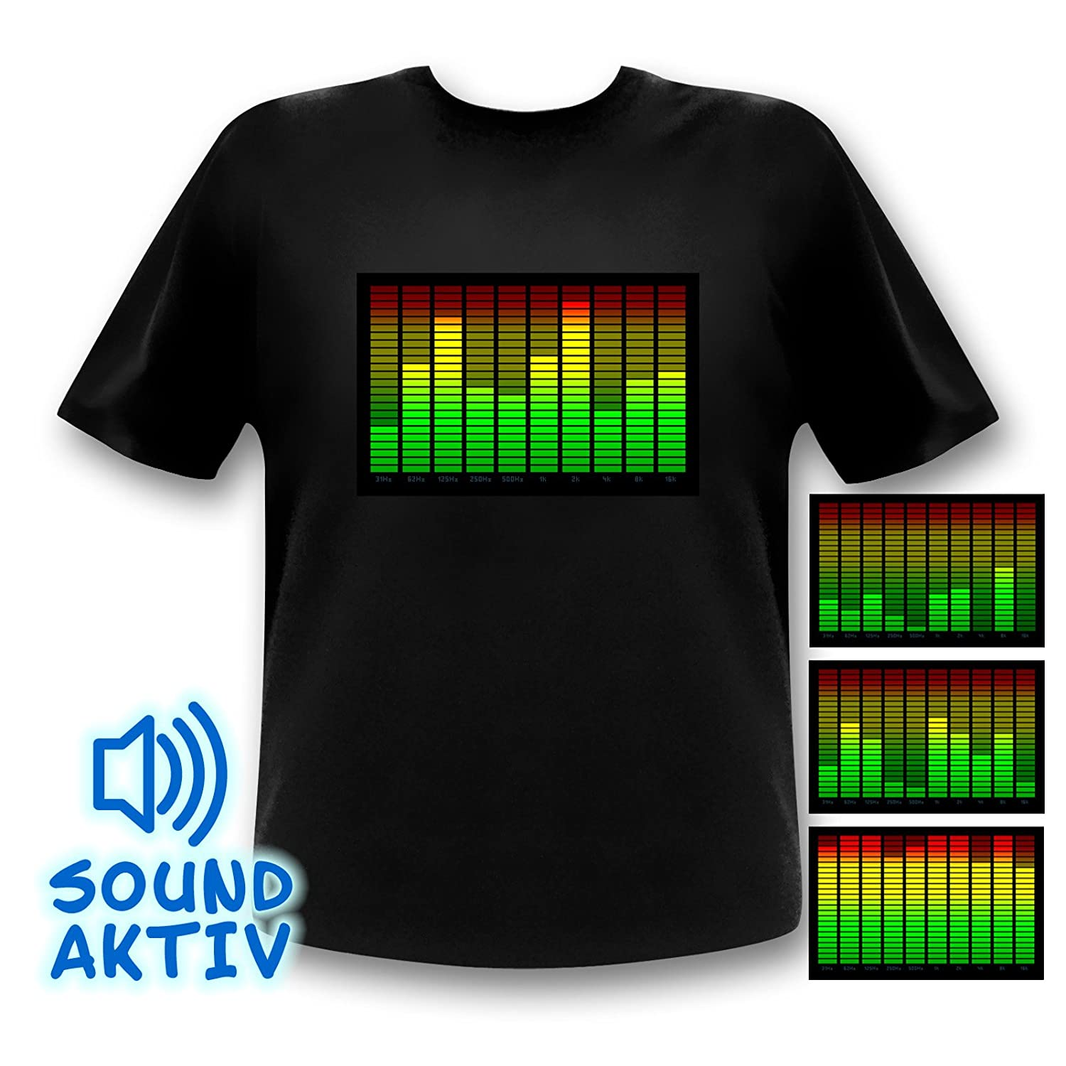 Sound Activated 10 Channel Led Equalizer T Shirt Light Up Men39s Digital Circuit Board Tshirt 2xlarge Blue Clothing Sports Outdoors
