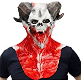 Scary Skull Mask horn face mask over head adults mask for Halloween Party Carnival Mask Party Masquerade party Cosplay Mask