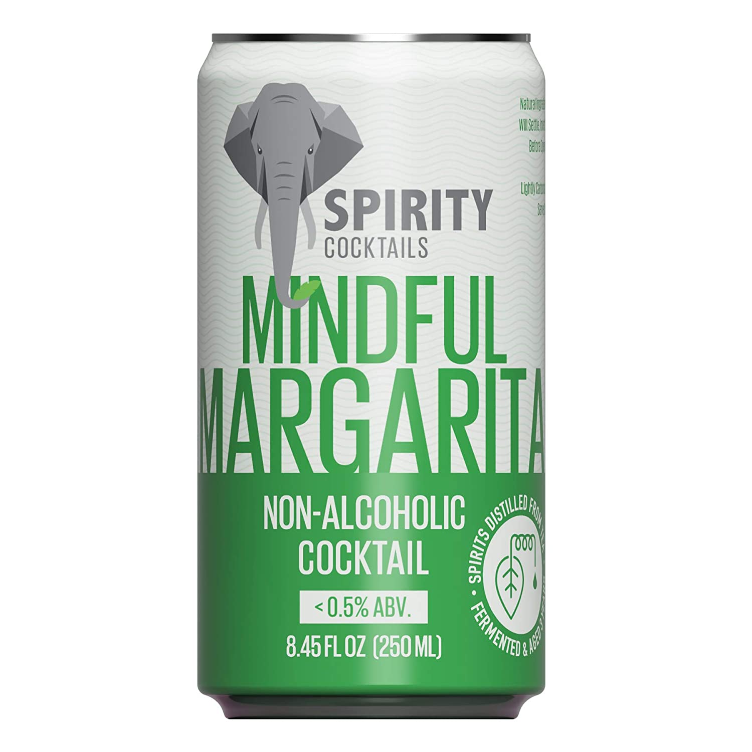 Spirity Cocktails - Mindful Margarita, Non-Alcoholic Cocktail, Spirits Distilled from Tea, 8.45 fl oz Cans (4-Pack)