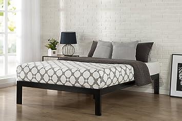 zinus quick snap tm 14 inch platform bed frame mattress foundation with less than - Platform Queen Bed Frame