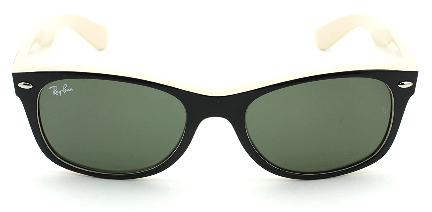 fd86c339be1a Amazon.com  Ray-Ban RB2132 New Wayfarer Classic Unisex Sunglasses (Black  Frame Green G-15 Lens 901