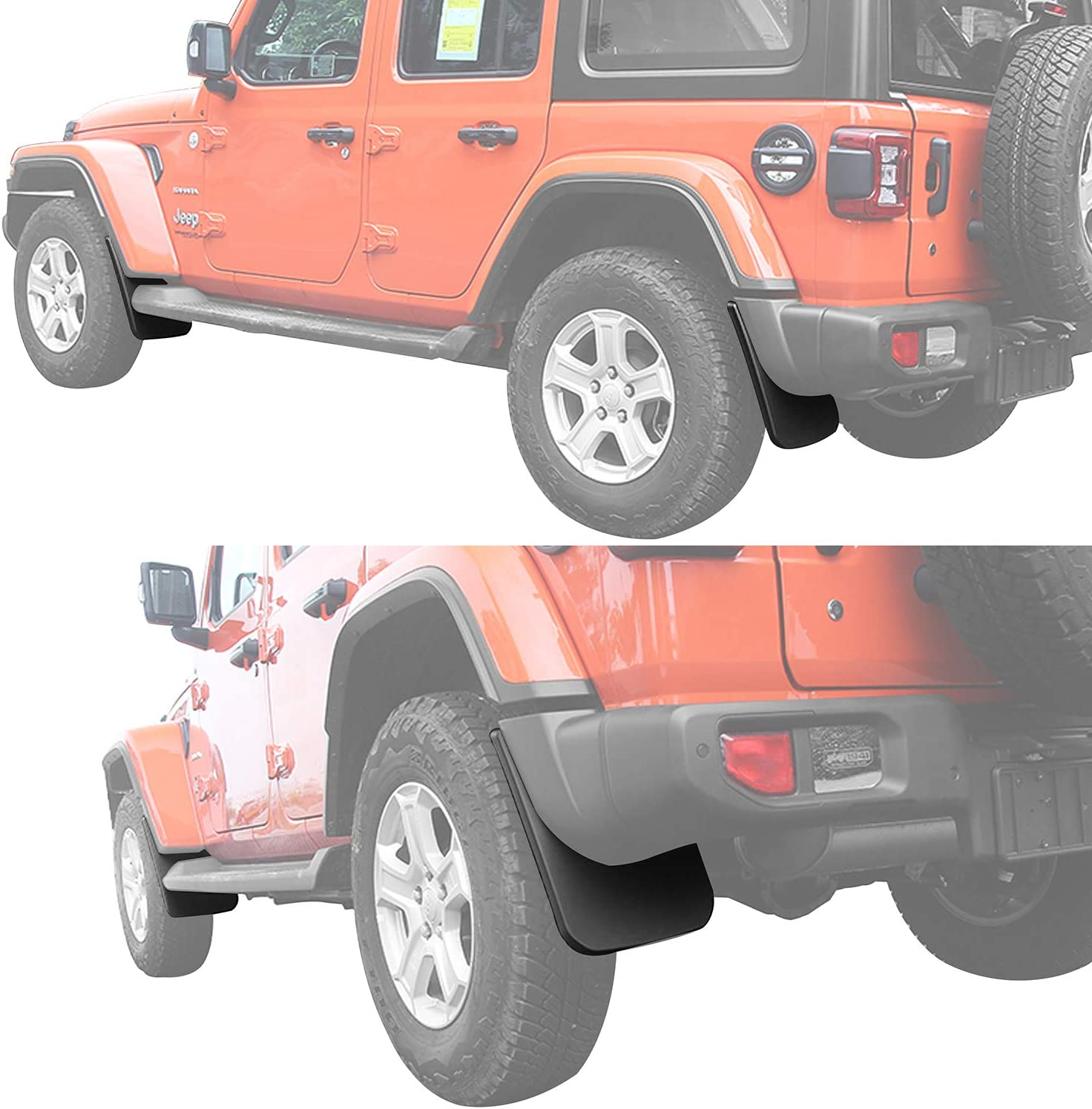Hooke Road Wrangler JL Inner Fender Liners Mud Guards Front /& Rear Kit Compatible with Jeep Wrangler JL 2018-2021 Sahara Rubicon Sport Sports