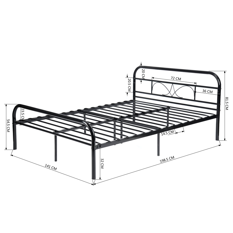 Eggree Single Bed Frame 4ft6 Double Bed Frame Solid 3ft