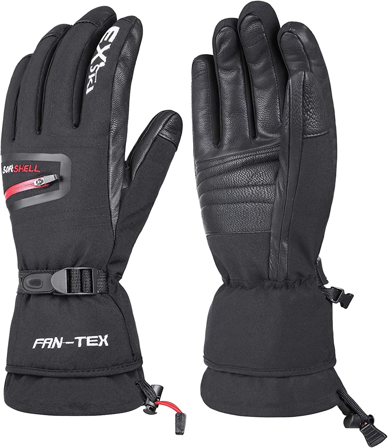 EXski Waterproof Mens Ski Gloves