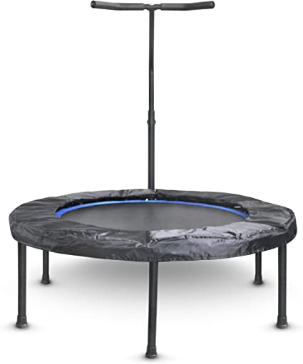 Indoor Fitness Rebounder with Adjustable Handle Bar for Kids Spring Cover and Folding Legs For Small Storage Activox Mini Exercise Trampoline for Adults