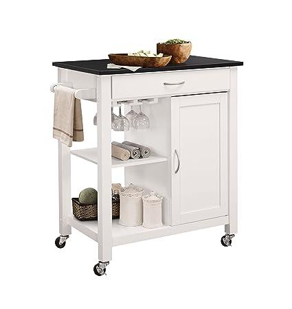 Amazon.com - ACME Furniture 98320 Ottawa Kitchen Cart, Black/White ...