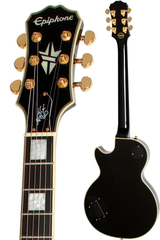Epiphone Bjorn Gelotte signature Les Paul Custom Outfit - Guitarra eléctrica, color ebony: Amazon.es: Instrumentos musicales