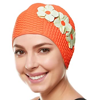 Beemo Bubble Women Latex Swim Cap