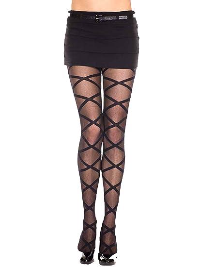 c3a760b464d Sheer Black Criss Cross Pattern Hosiery Tights at Amazon Women s ...