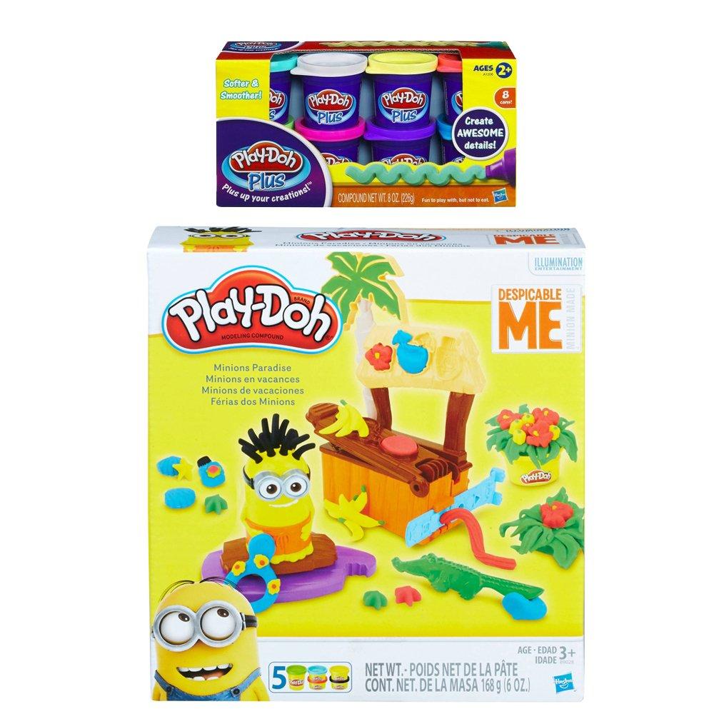 Play-Doh Minions Paradise Play Set + Play-Doh Plus Compound Bundle