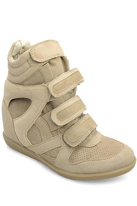 Alx Trend Zapatos para Mujer Zapatillas de Deporte con cuña Interior Mulan - Tostado: Amazon.es: Zapatos y complementos