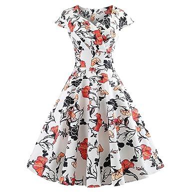 BOOMJIU Boatneck Vintage Sleeveless Tea Dress Belt Pleated Swing Party Prom Dress