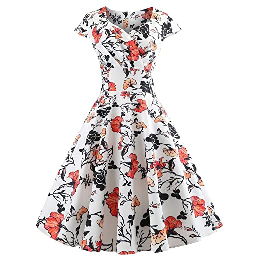 Birdfly Vintage 50\'S Style Dresses for Women Plus Size ...